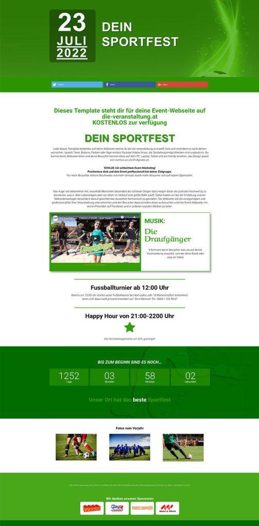 Erstelle deine eigene Event Webseite mit unseren Vorlagen für Feste